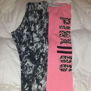 Nike leggings and pink joggers!!
